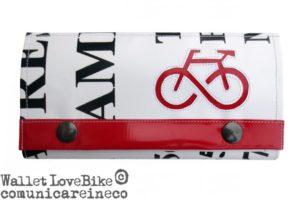 portafoglio cruelty free_Wallet woman_love bike XL