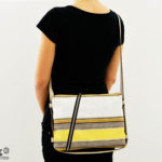 zaino tracolla righe_borsa vegan_eco friendly