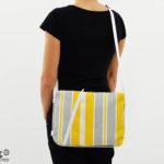 zaino tracolla_borsa a righe_cruelty free bag